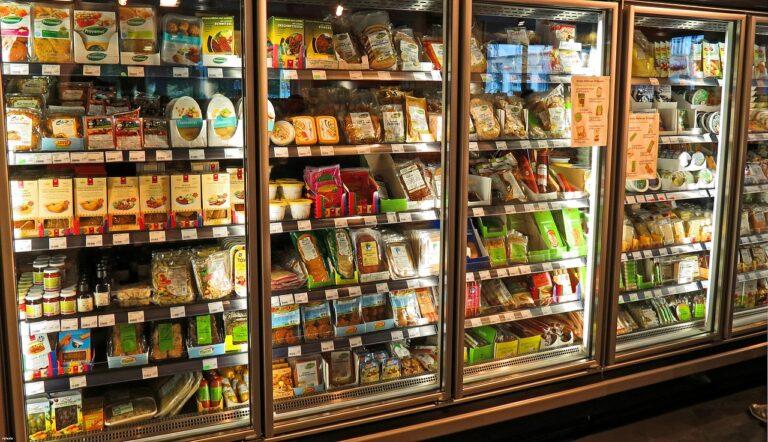 supermarket, fridge, produce
